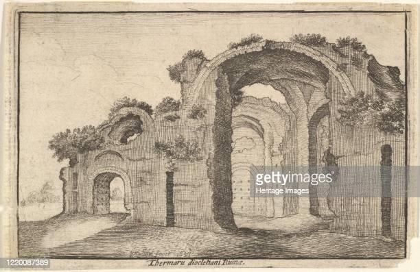 Baths of Diocletian Rome 17th century Artist Wenceslaus Hollar