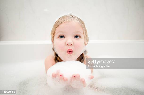 bathtime bubbles - bubble bath stock pictures, royalty-free photos & images