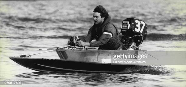 Bathtub Derby at Birkenhead PointMike Mangos in action June 07 1981