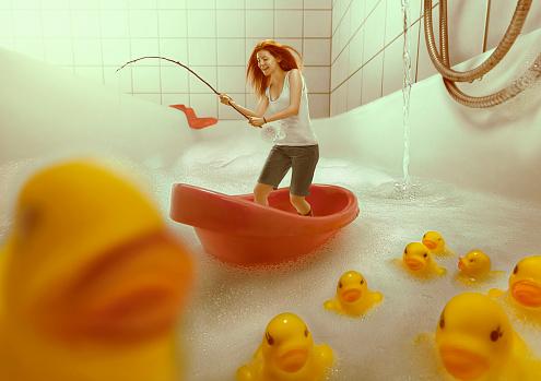 Bathtub Fishing - gettyimageskorea