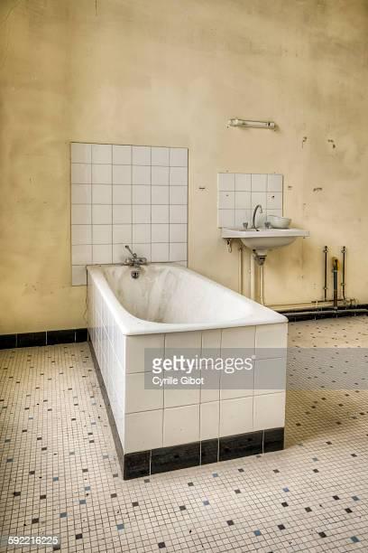 Bathtub in abandoned asylum