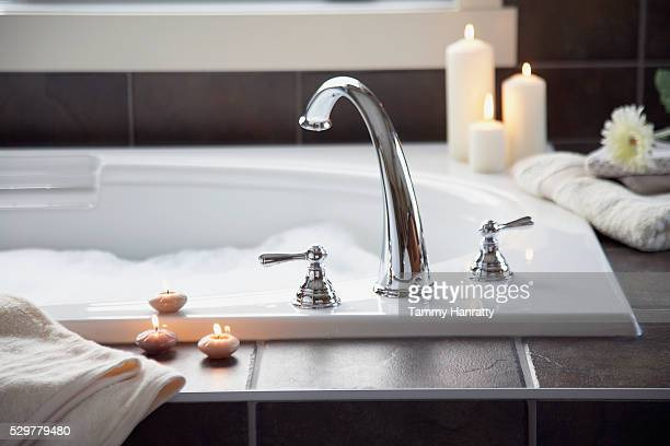 bathtub - bubble bath stock pictures, royalty-free photos & images