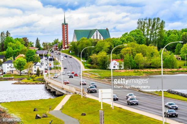 bathurst town in new brunswick - khanh ngo stock pictures, royalty-free photos & images