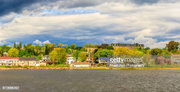 bathurst town in new brunswick - moncton stock photos and pictures