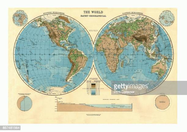 BathyOrographical Map of the World circa 1920s [Encyclopaedia Britannica Co] Artist Unknown