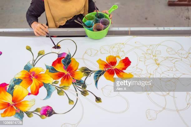 batik art - batik stock pictures, royalty-free photos & images