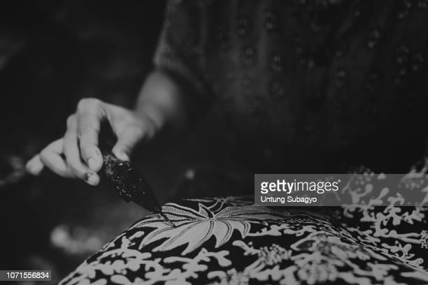 batik indonesia - batik stock pictures, royalty-free photos & images