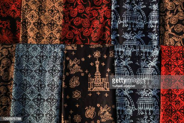 batik merangin handwriting, jambi, indonesia - batik stock pictures, royalty-free photos & images