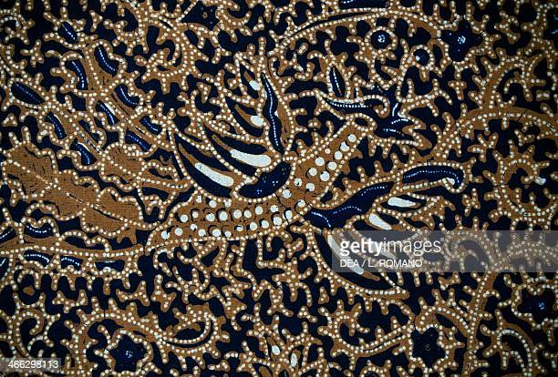 Batik with traditional design Java Indonesia Detail