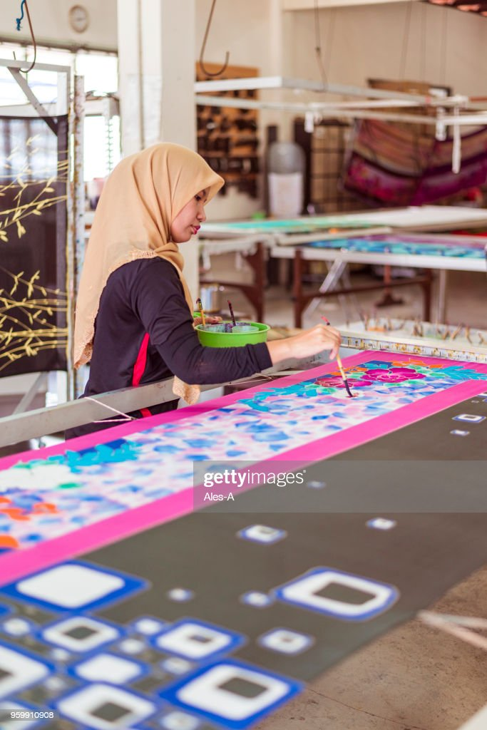 Batik workshop : Stock Photo