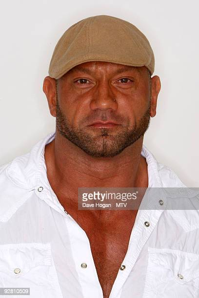 Batista poses for a picture in the studio during the 2009 MTV Europe Music Awards held at the O2 Arena on November 5 2009 in Berlin Germany