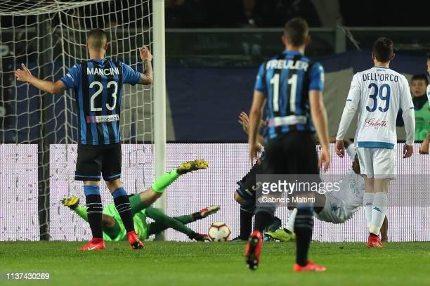 Batlomiej Dragoski of Empoli FC in action during the Serie A match between Atalanta BC and Empoli at Stadio Atleti Azzurri d'Italia on April 15 2019...