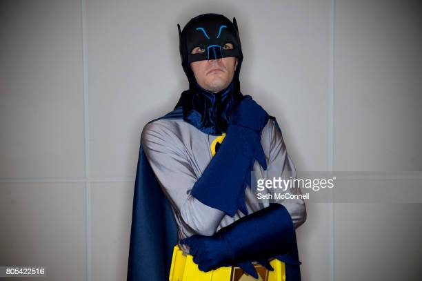 Batman aka Kevin Meeks poses for a portrait during Denver Comic Con at the Colorado Convention Center on July 1 in Denver Colorado