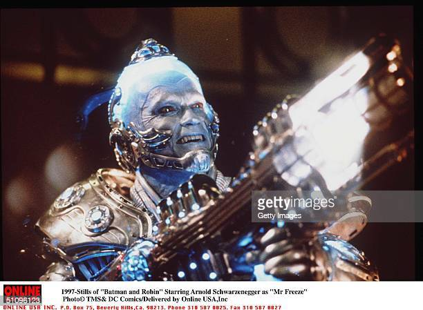 "Batman And Robin "" Movie Stills Starring Arnols Schwarzenegger As ""Mr Freeze"""