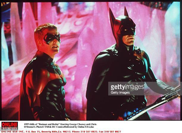 "Batman And Robin "" Movie Stills Starring George Clooney And Chris O'Donnell"