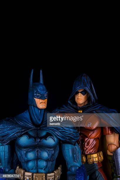 batman and robin - robin superhero stock pictures, royalty-free photos & images