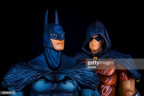 batman e robin - batman e robin foto e immagini stock
