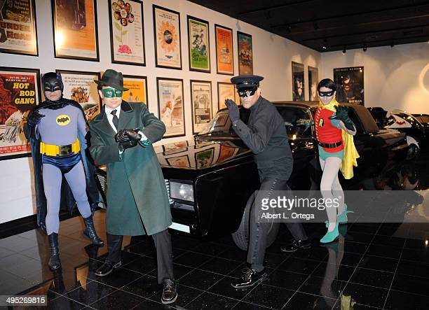 Batman and Robin with The Green Hornet and Kato at the 'Batman 66 Meets The Green Hornet' Comic Book Kickoff Fatman On Batman Live Podcast With Kevin...
