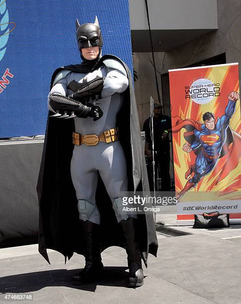 Batman at Warner Bros And DC Comics Super Hero World Record Event held at Hollywood Highland Courtyard on April 18 2015 in Hollywood California