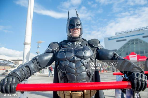 Batman Cosplayer in character seen during Day 3 of MCM London Comic Con 2018 at ExCel on October 28, 2018 in London, England.