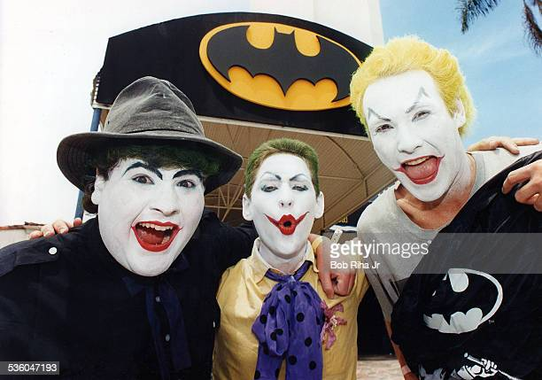 Batman movie fans attends the Batman movie premiere on June 19 1989 in Westwood section of Los Angeles California