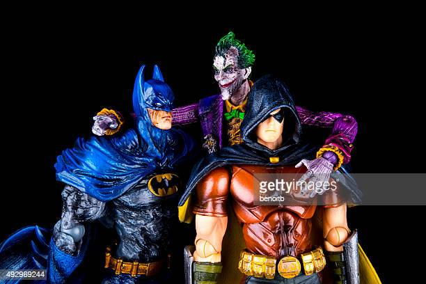 batman with robin and the joker - robin superhero stock pictures, royalty-free photos & images