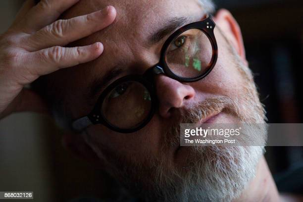 Baton Rouge LA Sept 11 2017 New Orleans Louisiana United States Author and blogger Rod Dreher poses for a portrait at his home in Baton Rouge...