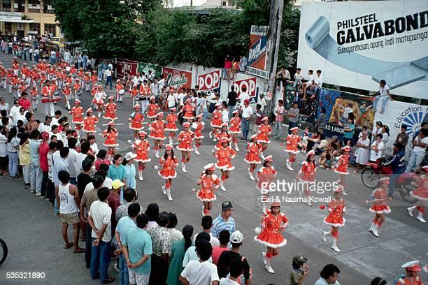 Baton Twirlers in Mass Kara Festival Parade