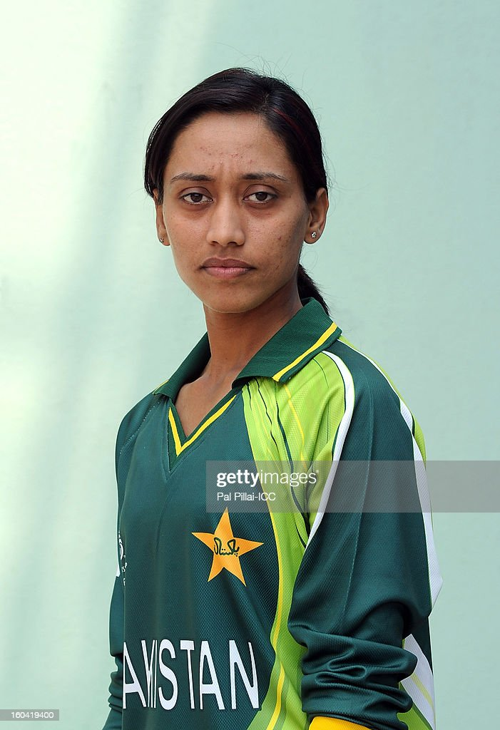 Batool Fatima of Pakistan attends a portrait session ahead of the ICC Womens World Cup 2013 at the Barabati stadium on January 31, 2013 in Cuttack, India.