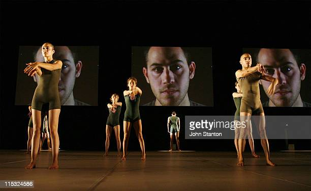 Batsheva dancers during Batsheva Dance Company Telophaza at Capitol Theatre in Sydney New South Wales Australia