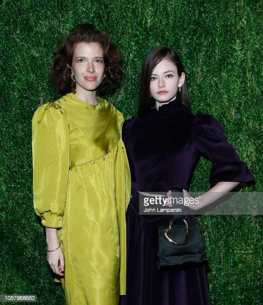 Batsheva Hay and Mackenzie Foy attend CFDA / Vogue Fashion Fund 15th Anniversary Event at Brooklyn Navy Yard on November 5 2018 in Brooklyn New York