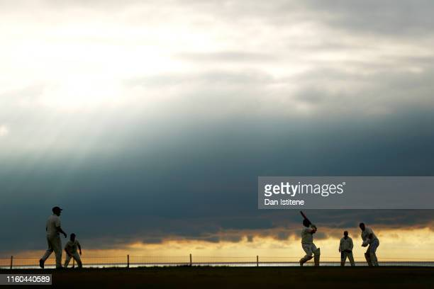 A batsman from Bude CC bats during the Cornwall Cricket League Division 2 East match between Bude CC and Menheniot/Looe CC at Crooklets Cricket...