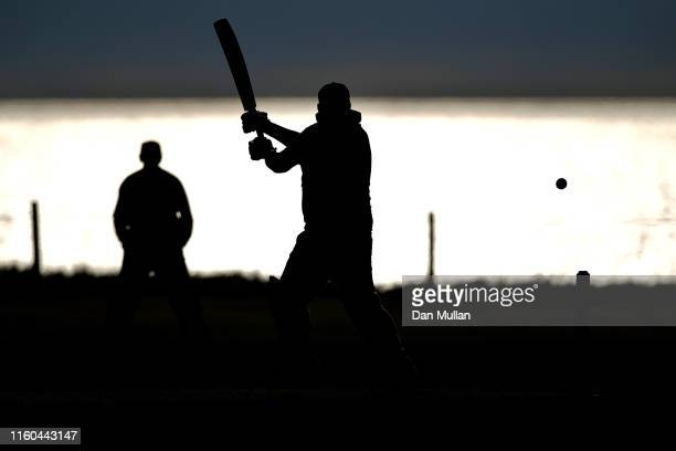 A batsman from Bude CC plays a shot during the Cornwall Cricket League Division 2 East match between Bude CC and Menheniot/Looe CC at Crooklets...