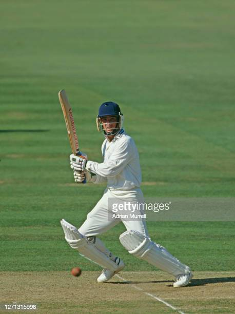 Batsman Graham Thorpe of Surrey County Cricket Club batting his way to 93 runs during the NatWest Trophy final against Hampshire on 7th September...