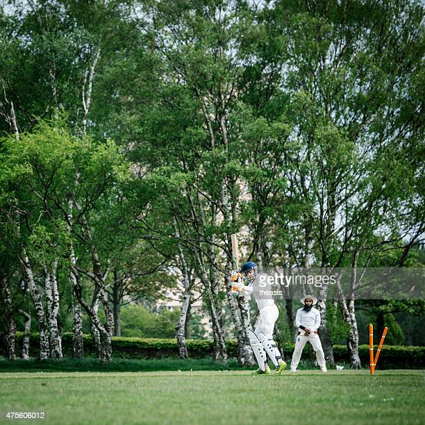 batsman is bowled local club cricket - theasis stock pictures, royalty-free photos & images
