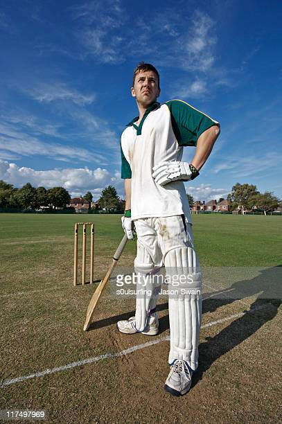 batsman - crease cricket field stock pictures, royalty-free photos & images