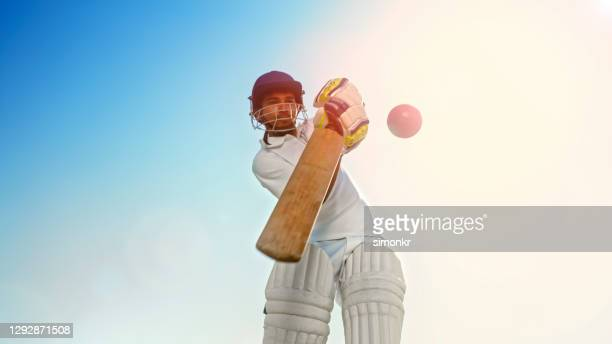 batsman playing cricket - sport of cricket stock pictures, royalty-free photos & images