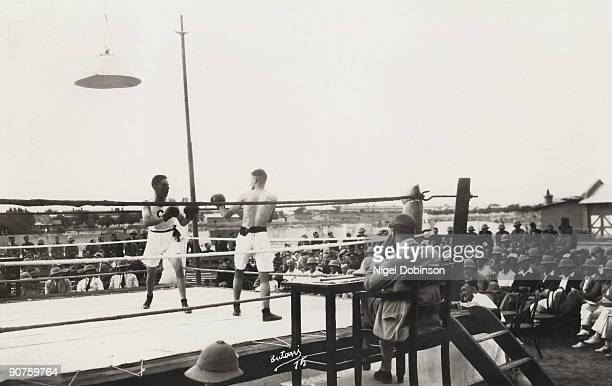 �Battalion Boxing Royal Scots� Boxing match organised by soldiers of the 2nd Battalion Royal Scots during the British Empire period Photograph from...