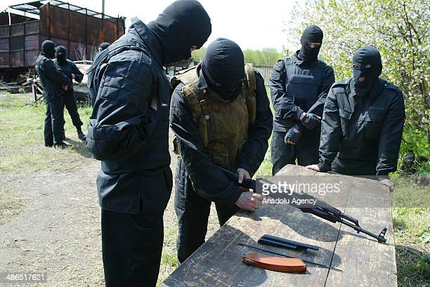 """Battalion, called """"Donbass"""" and consists of activists of the movement for the unity of the Ukraine, is being prepared, in a military training..."""