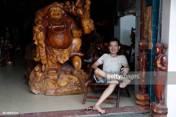 Battambang shopkeeper Cambodia