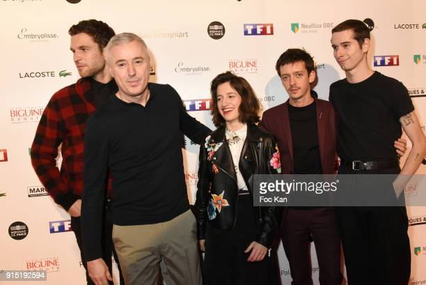 Arnaud Valois director Robin Campillo actress Aloise Sauvage Nahuel Perez Biscayart and an actor attend the Trophees du Film Francais 2018 at Palais...