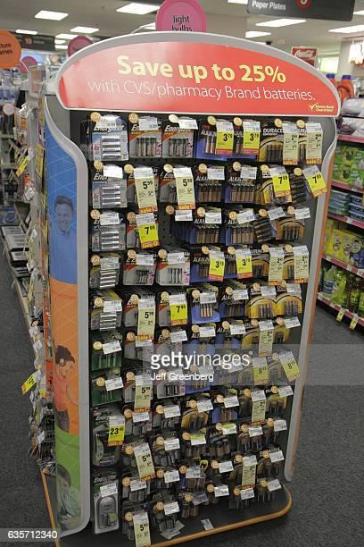 Batteries for sale in CVS Pharmacy.