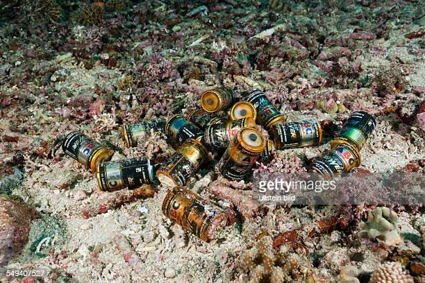 Batteries in Ocean Amed Bali Indonesia