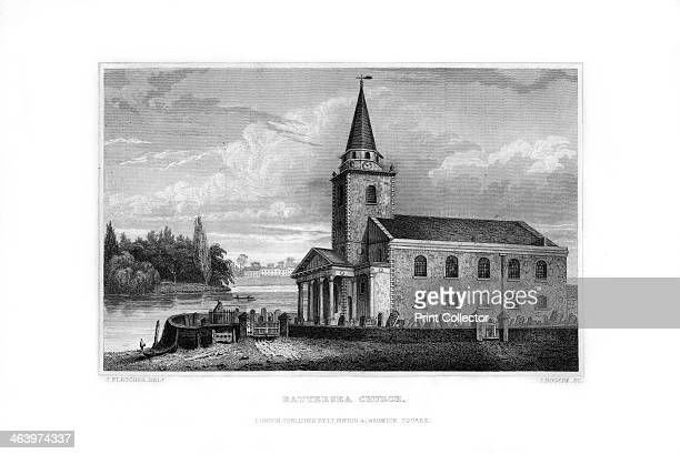Battersea Church, Battersea, London, 1829. Built in 1777, St Mary's Battersea has connections with William Blake, who was married there, JMW Turner,...