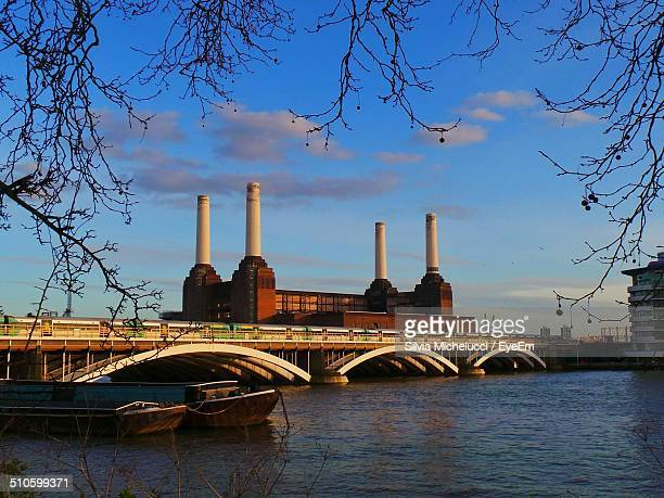 Battersea Power Station along Thames river