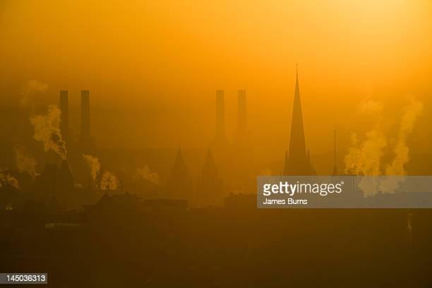 Battersea power station at dawn