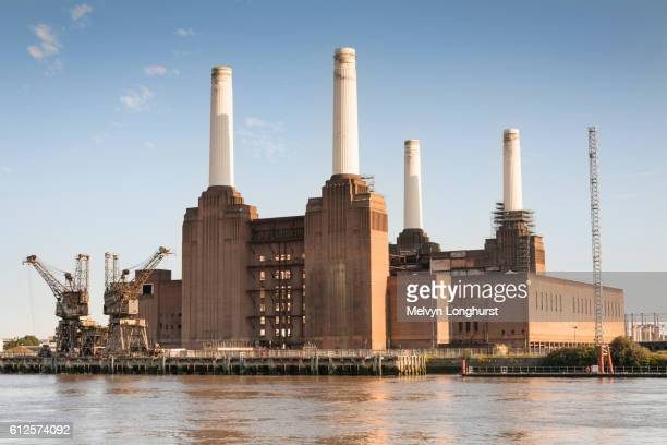 Battersea Power Station beside the River Thames, Battersea, London, England
