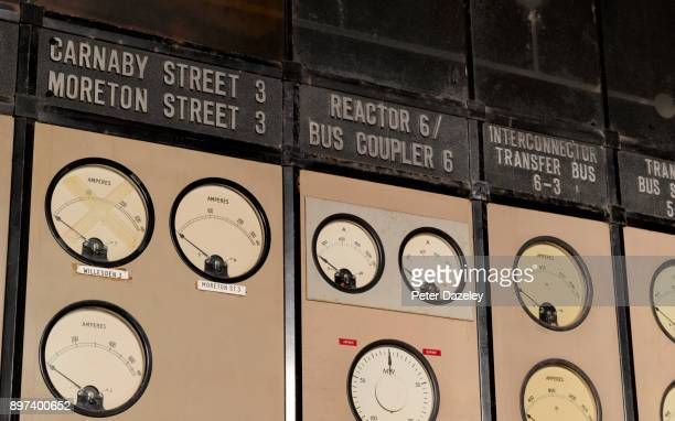 battersea power station, carnaby street dials control room a - battersea stock pictures, royalty-free photos & images