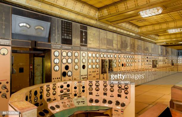 battersea power station, control room a side - battersea stock pictures, royalty-free photos & images