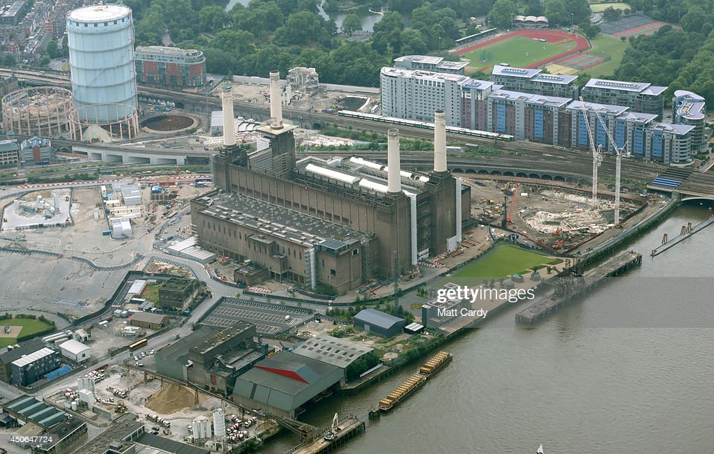 Battersea Power Station is seen from the air on June 14, 2014 in London, England.